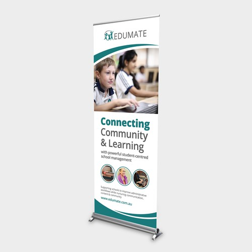 Clean, professional, modern trade conference banner