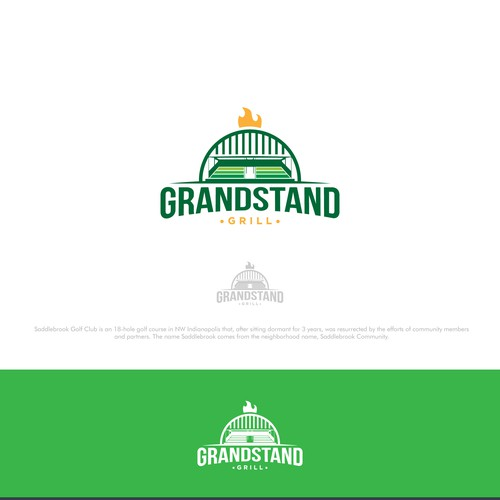 Bold Logo for Grandstand Grill
