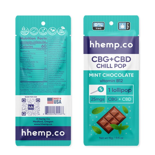 Packaging design for hemp lollipop