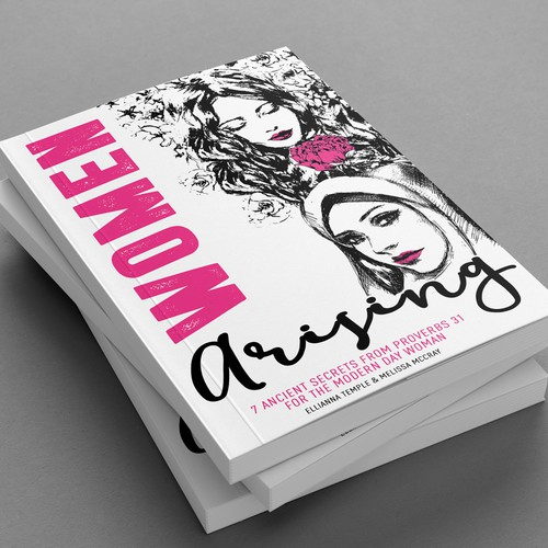Beautiful , feminine book cover design