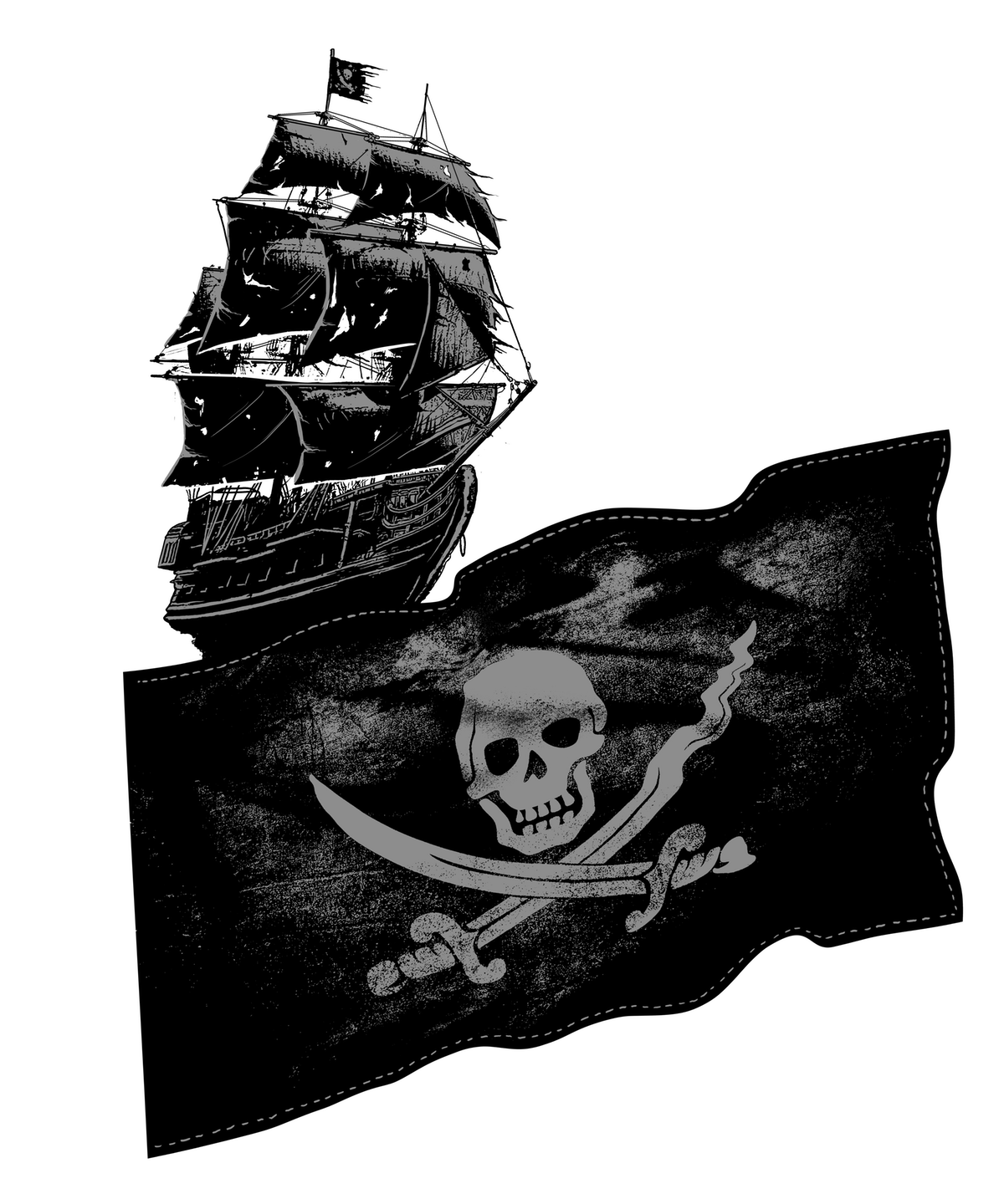 Long Sleeve Pirate Design