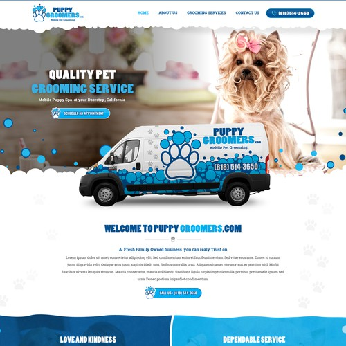 modern classy website with pet feel