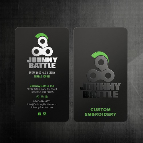 UV spot Business card