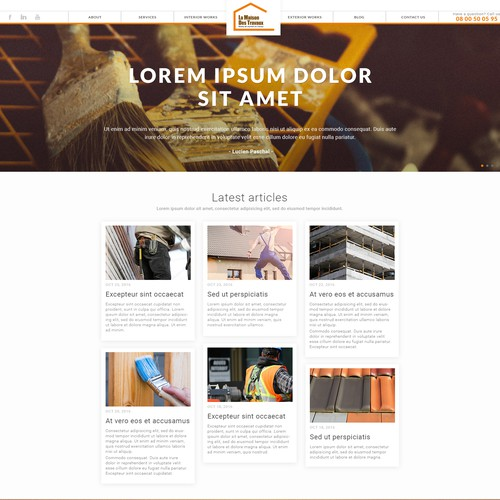 Pinterest style website for construction workers