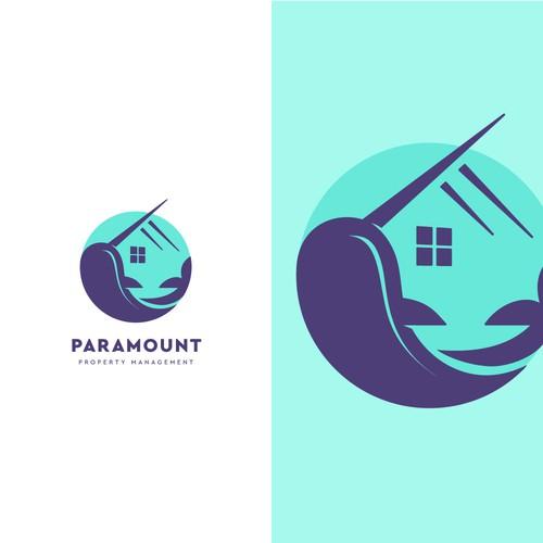 Narwhal + Home Logo Design