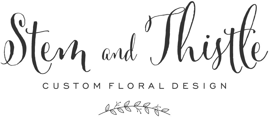Create a simple, classy, creative logo for Stem and Thistle custom floral design company