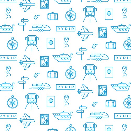 Travel icons pattern