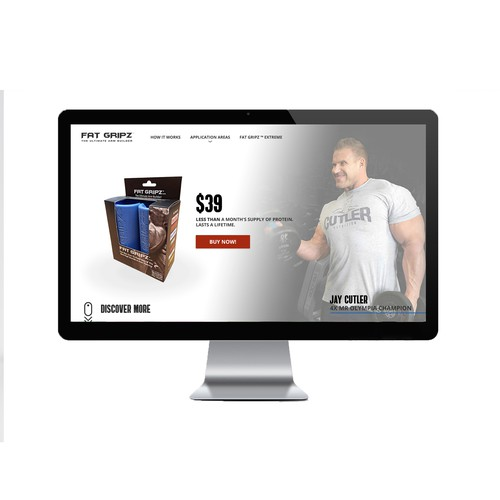Fat Gripz - Fitness product website