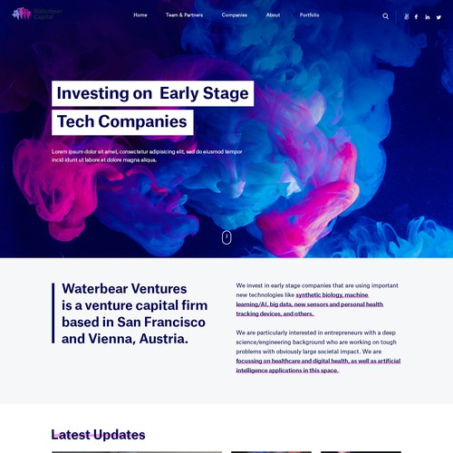 Waterbear Capital needs a website to resonate with founders who are building the future