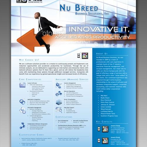 Software start-up needs a sharp, eye-catching, brochure!