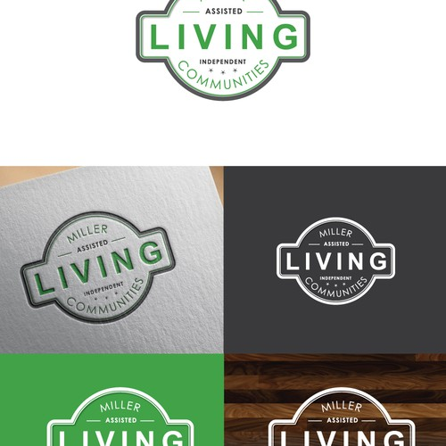 Badge Style Logo for Senior Living Developer