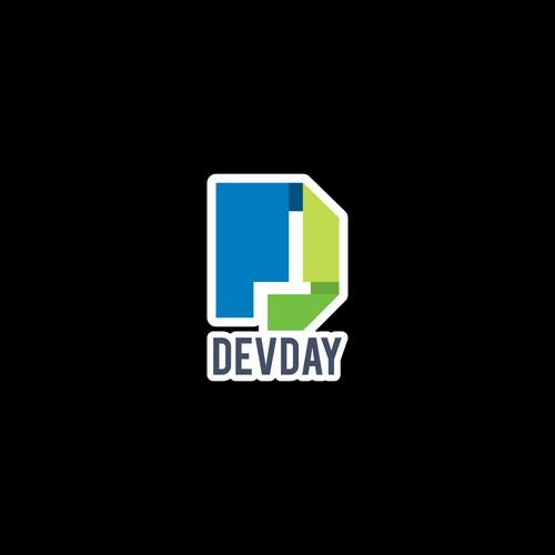 Die-cut sticker design for DevDay.