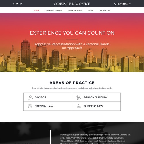 Web Design for a Law Firm