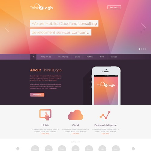 Creating winning website for US mobile apps consulting startup