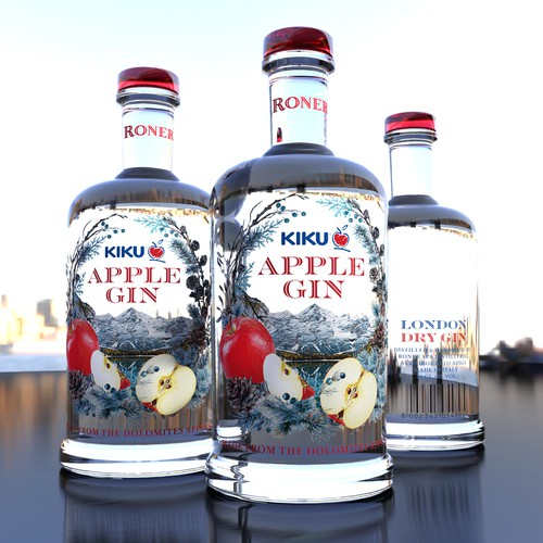 KIKU Apple Gin - Worlds first Apple Gin from the Dolomites