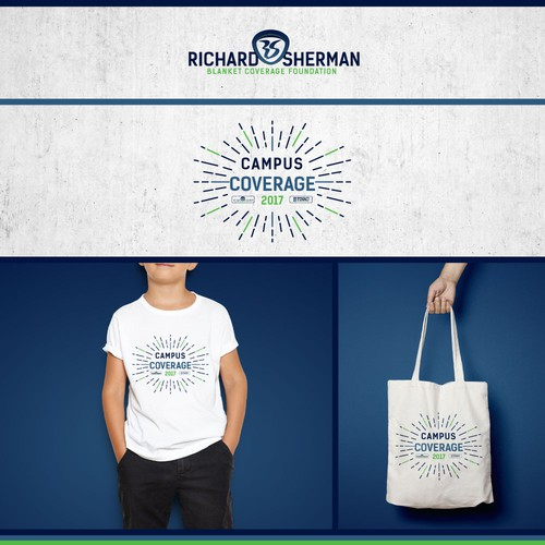 A foundation and an event logo for Richard Sherman, one of the best NFL cornerback.