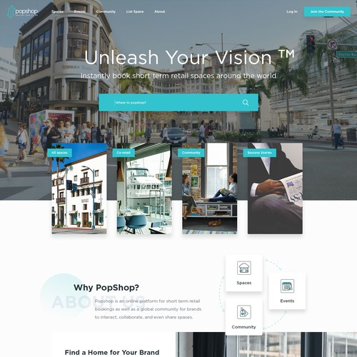 complete redesign for retail popup shop and brand marketplace