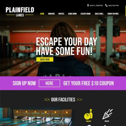 Bowling Lanes Website Design