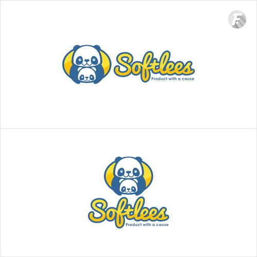 Cute logo concept for baby diapers brand