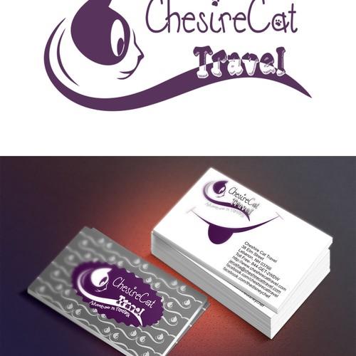 Cheshire Cat Travel - Cheshire/Wonderland inspired logo/business cards