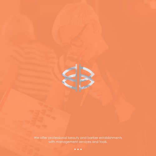double B letter logo with leaf and interline concept