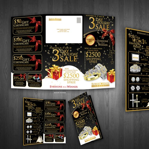 SUPER EXCITING Tri-Fold Mailer for Jewelry Store