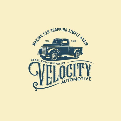 Vintage logo for Velocity Automotive