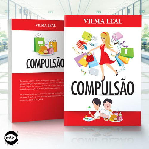 "Book cover and typesetting for ""Compulsão"" by Vilma Leal"