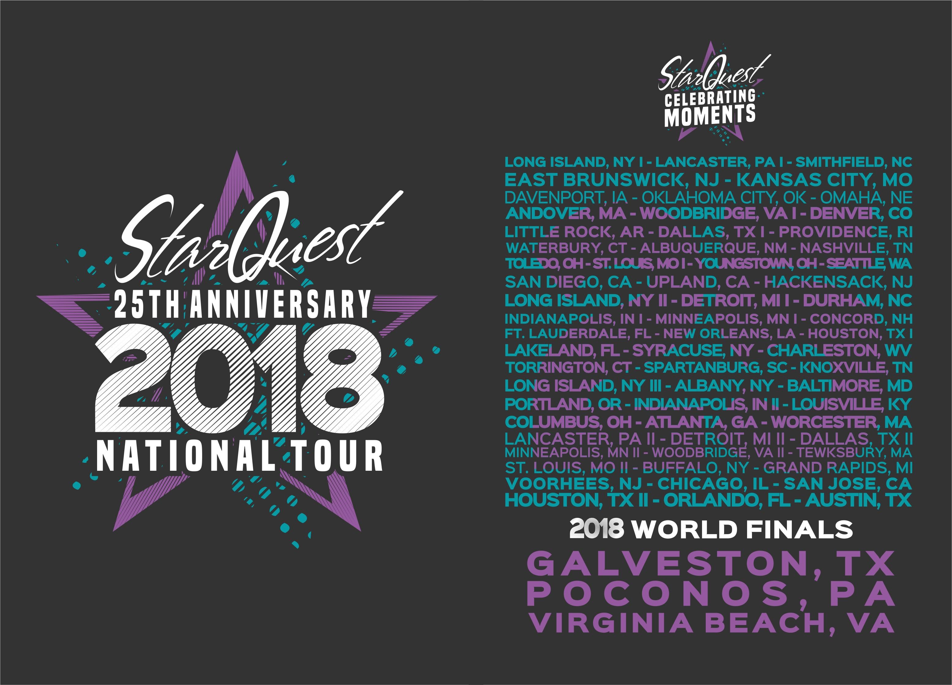 25th Anniversary National Tour Shirt Design for Dance Competition