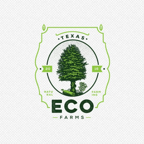Logo for Texas Eco farms / Vintage Version
