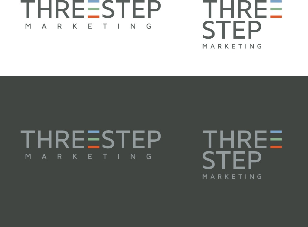 "A clean and fun Logo for ""Three Step Marketing"""