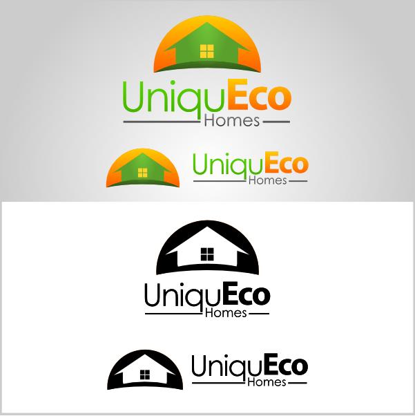 logo for UniquEco Homes