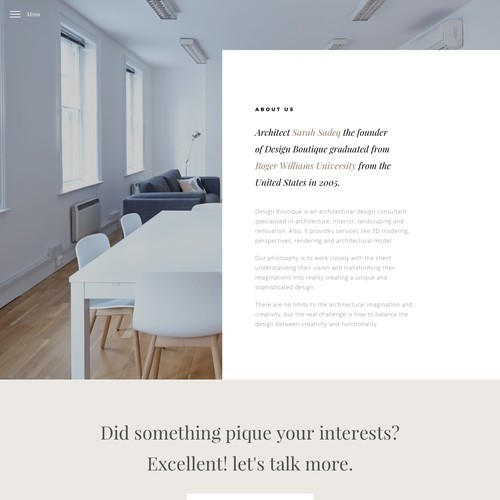 Design Website for architectural Design office