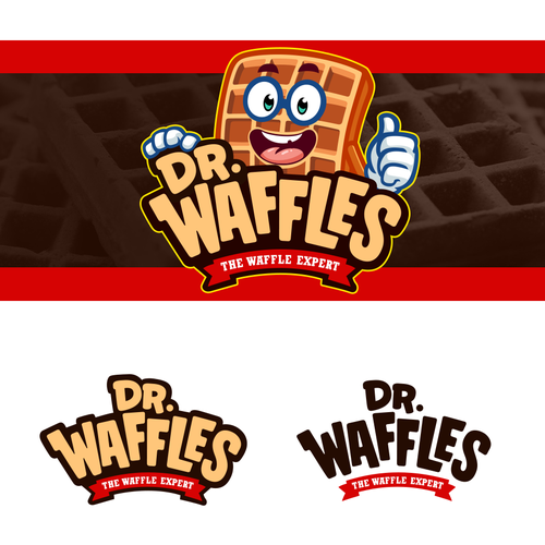 A Funky Waffle Logo and Character/Mascot Concept