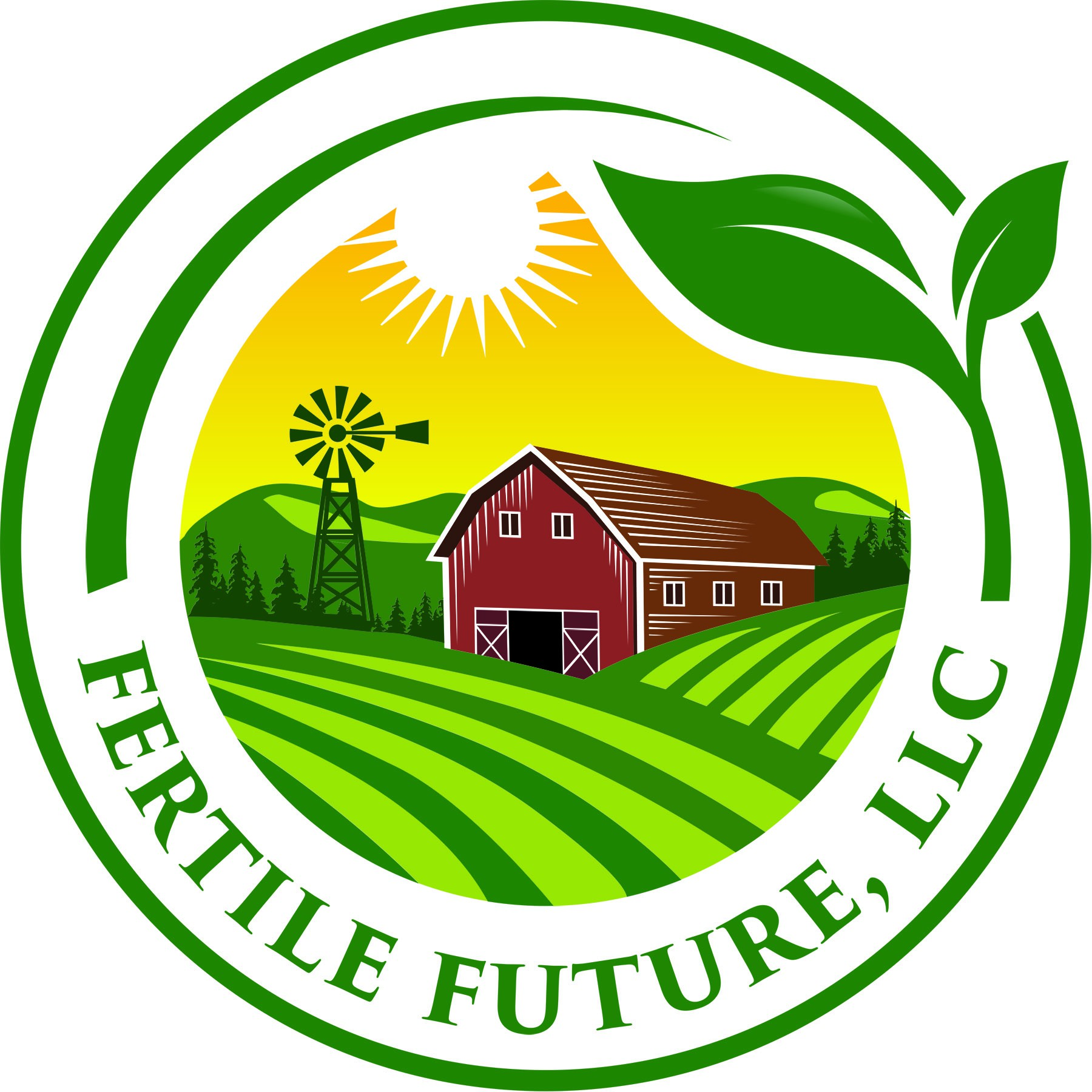 Create a fresh, beautiful logo for a historic, organic family farm.