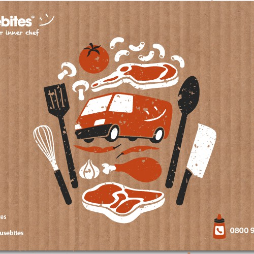 Illustration proposal for an online food store box