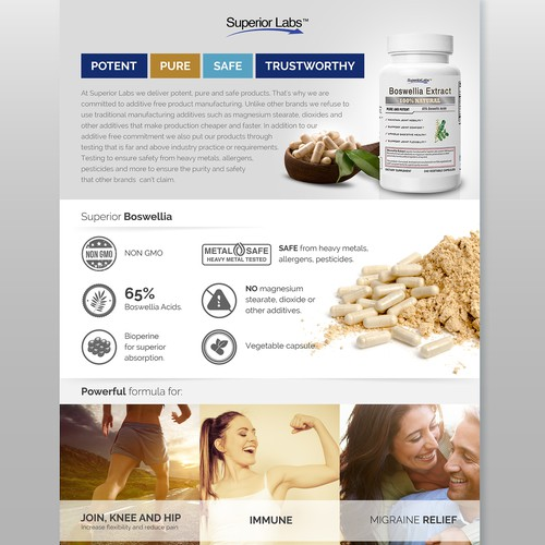 Creation of graphic and illustration for dietary vitamin and supplement company