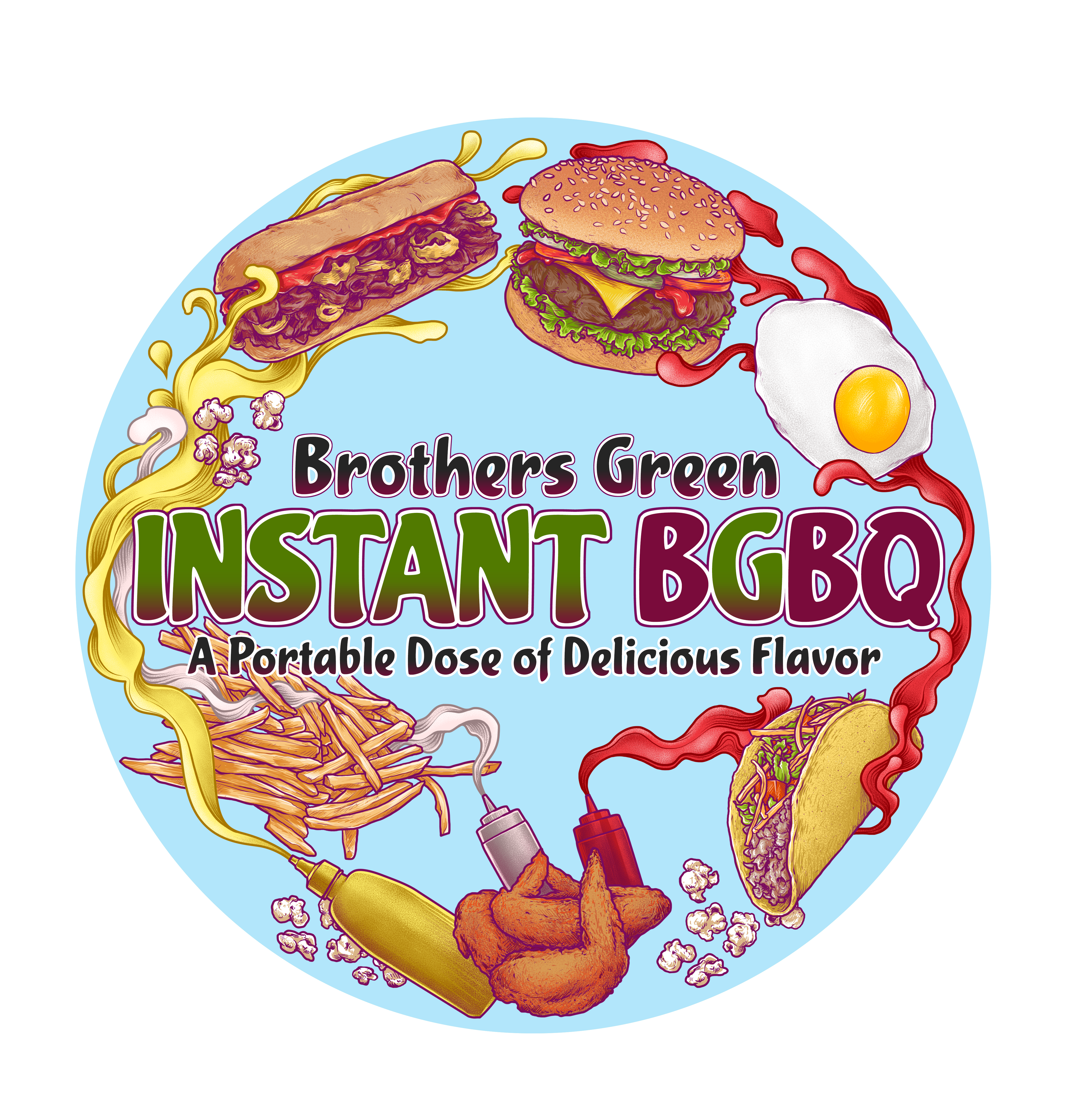 Sticker for a Brothers Green Spice Rub