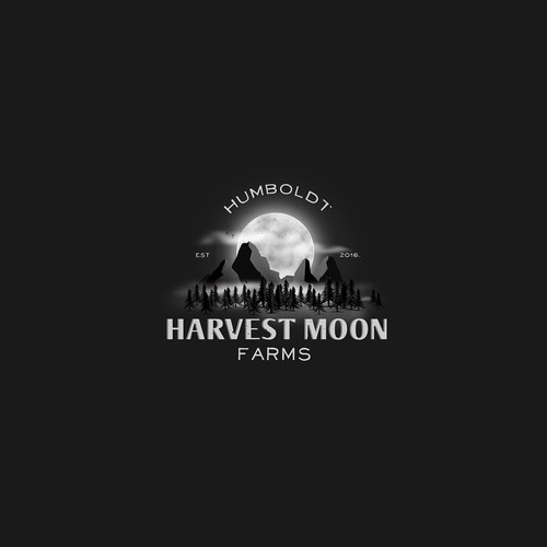 cannabis farm logo concept