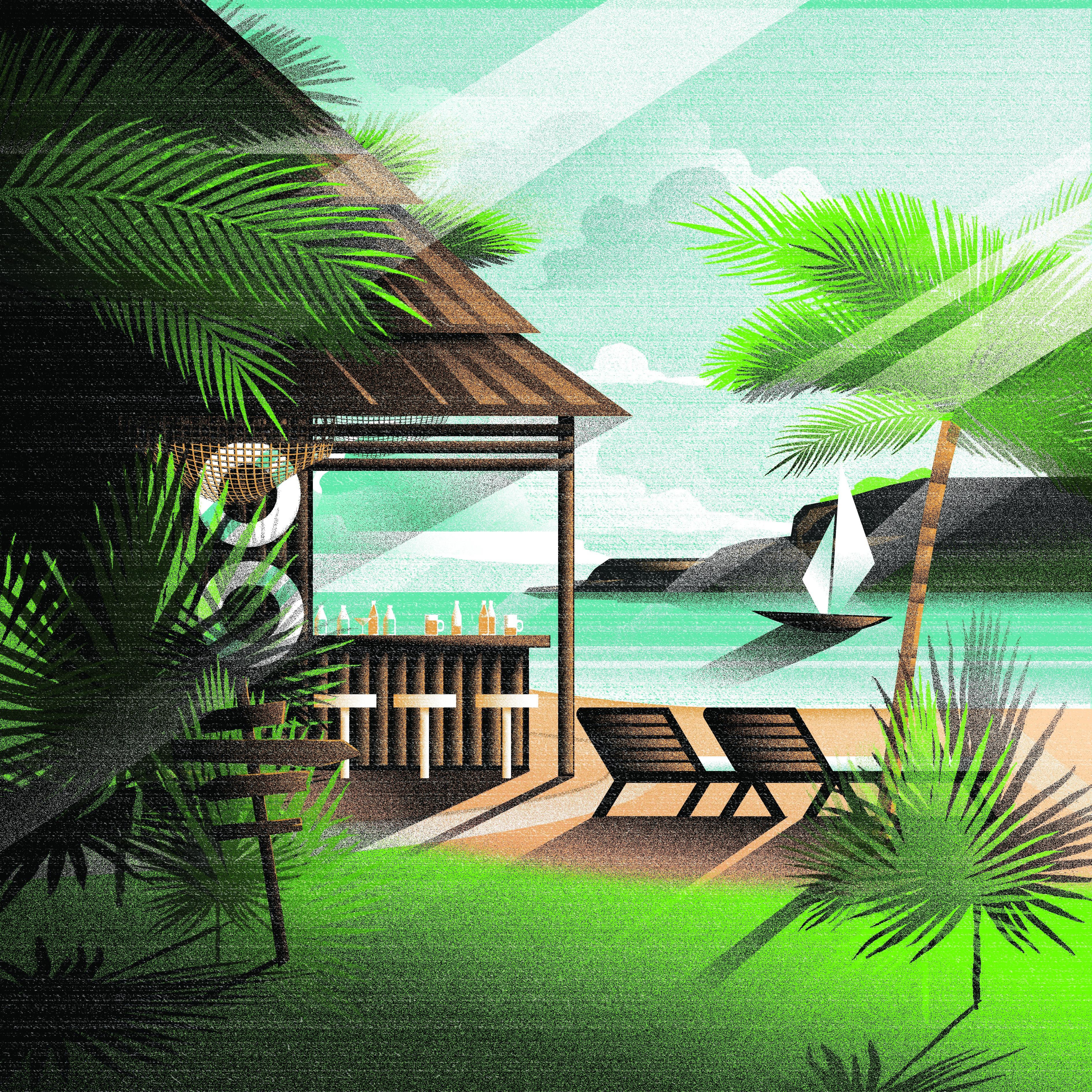 Beach Shack Illustration