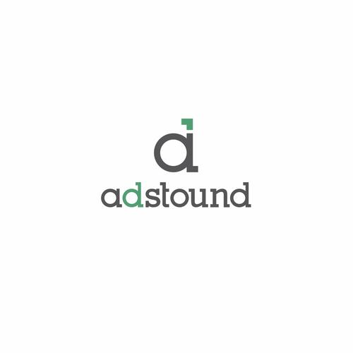 Adstound logo design concept