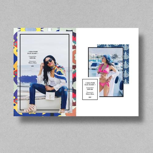 Fashion Lookbook design for ID Peters London