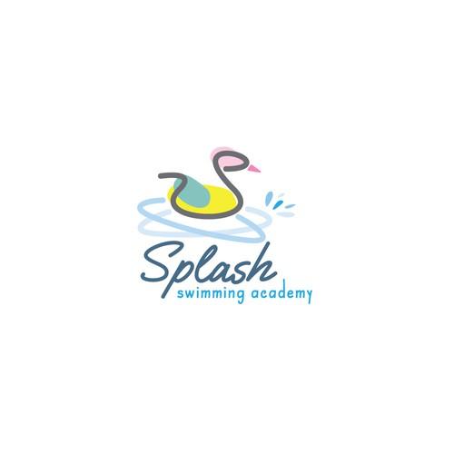 Swimming academy logo