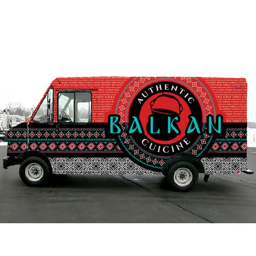 Balkan Food Truck Wrap