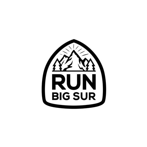 Design logo for new lifestyle brand that celebrates trail running in Big Sur, California