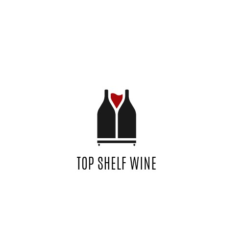 Creative and sophisticated wine logo