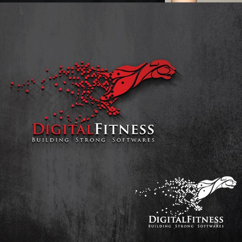 Create a logo for a software development company of Health & Fitness producsts: DigitalFitness