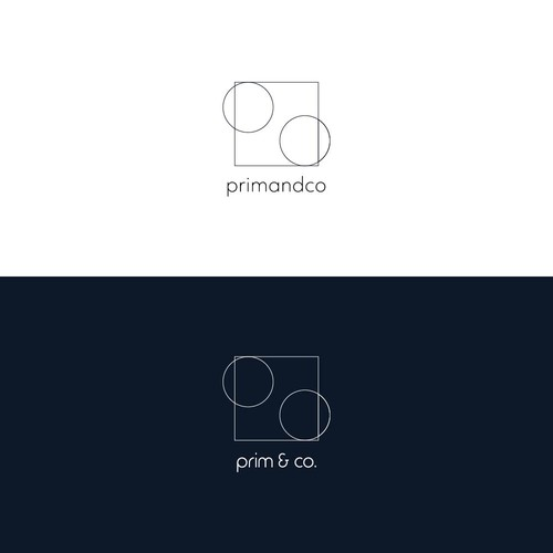 Geometric logo design for abstract artist