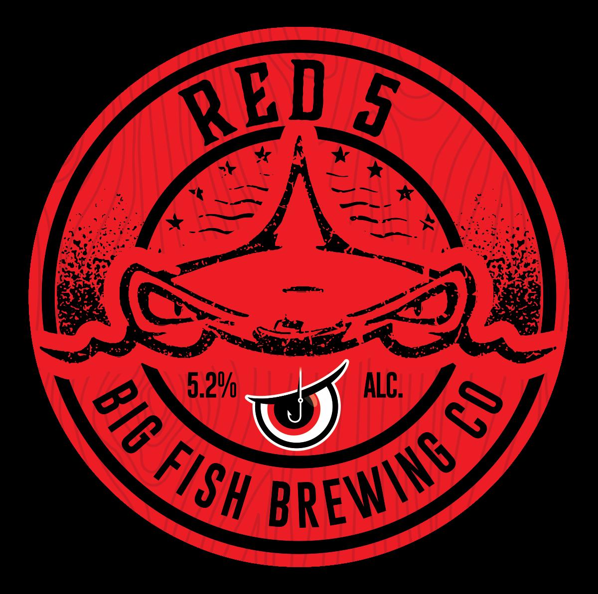 Beer pump clip - Red 5