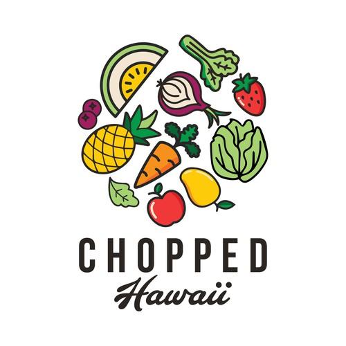 Bright & modern logo for fresh cut fruit & veggie co.